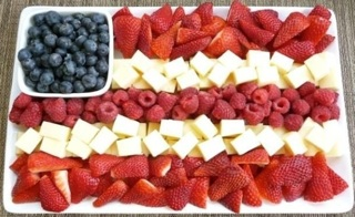 Stripes of Fruit and Cheese!