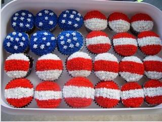 Festive Flag Cupcakes!