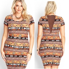 Tribal print with sheer back lining.