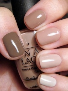 All shades of nude. Im currently wearing Samoan Sands by OPI. www.opi.com