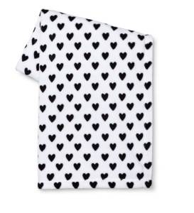 This blanket is warm and comfy. For under $20, it's a steal! Find yours here: http://m.target.com/p/valentine-s-printed-flannel-throw-black-and-white-hearts/-/A-49153822