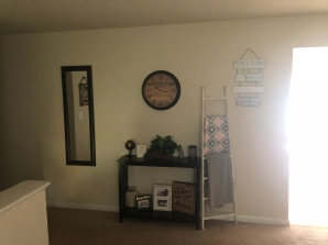 Accent pieces in living room